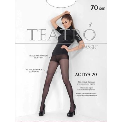 Колготки женские Activa 70 den, цвет чёрный (nero), размер 4