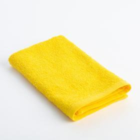 Полотенце махровое «Экономь и Я» 30х30 см, цвет жёлтый