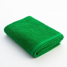 Полотенце махровое Экономь и Я 50х90 см, цв. зелёное яблоко, 340 г/м²