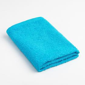 Полотенце махровое «Экономь и Я» 30х30 см, цвет голубой Ош