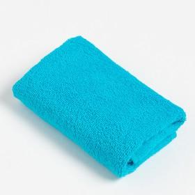 Полотенце махровое «Экономь и Я» 30х60 см, цвет голубой