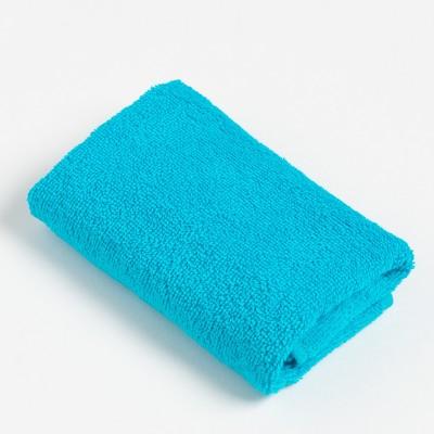 Полотенце махровое Экономь и Я 30х60 см, цв. голубой, 100% хл, 320 г/м² - Фото 1