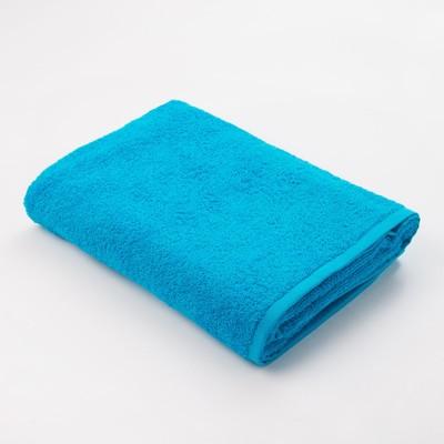 Полотенце махровое Экономь и Я 70х130 см, цв. голубой, 320 г/м² - Фото 1