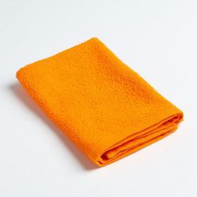 Полотенце махровое «Экономь и Я» 30х30 см, цвет оранжевый