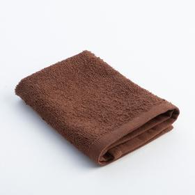 Полотенце махровое Экономь и Я 30х30 см, цв. шоколад, 340 г/м²