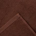 Полотенце махровое Экономь и Я 50х90 см, цв. шоколад, 320 г/м² - Фото 3