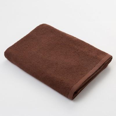Полотенце махровое Экономь и Я 70х130 см, цв. шоколад, 320 г/м² - Фото 1