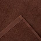 Полотенце махровое Экономь и Я 70х130 см, цв. шоколад, 320 г/м² - Фото 3