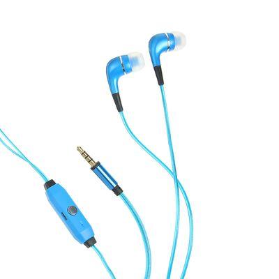 Наушники Human Friends Spark, вакуумные, микрофон, 95 дБ, 16 Ом, 3.5 мм, 1 м, голубые