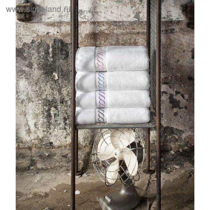 Полотенце Pauline, размер 50 × 90 см, бело-лиловый