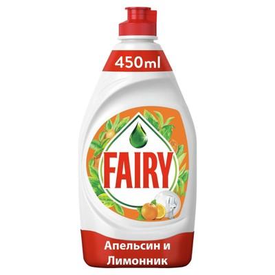 """Средство для мытья посуды FAIRY """"Апельсин и лимонник"""", 450 мл - Фото 1"""