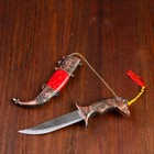 Сувенирный нож мини, 21,5 см рукоятка в форме головы лошади