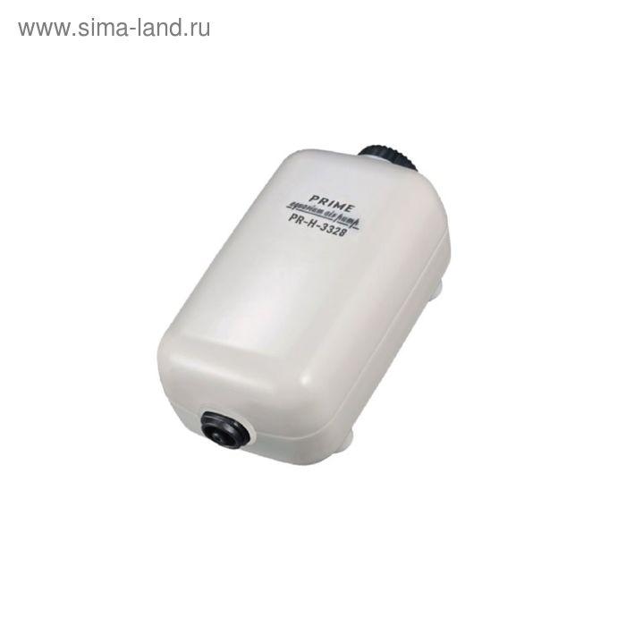 Компрессор PRIME регулируемый, 2Вт, 2 л/мин, глубина аквариума до 50см, бесшумный