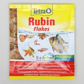 Корм TetraRubin для рыб, хлопья для окраса, пакет 12 г