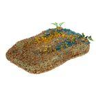 Плот для черепах Accessory 007 с присоской плавающий, 18,5 х 15 см