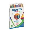 Карандаши двусторонние 18 штуки GIOTTO Stilnovo Bicolor 36 цветов 6.8/3.3 мм шестигранные 257200