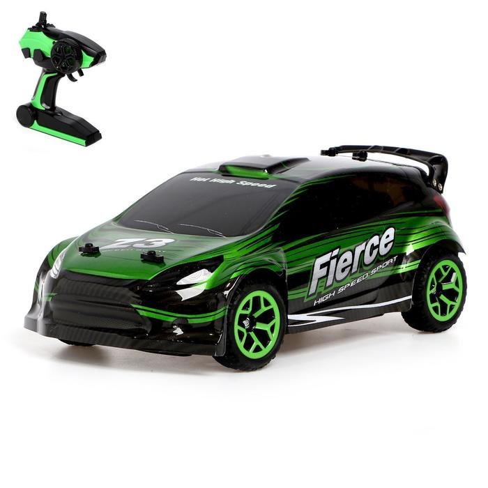 """Машина радиоуправляемая """"Фиеста"""" с аккумулятором, полный привод 4WD, цвета МИКС"""