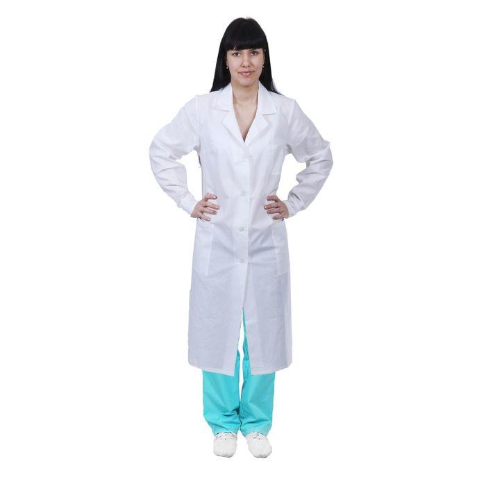 Халат женский медицинский, ГОСТ, размер 44-46, рост 170-176 см, цвет белый