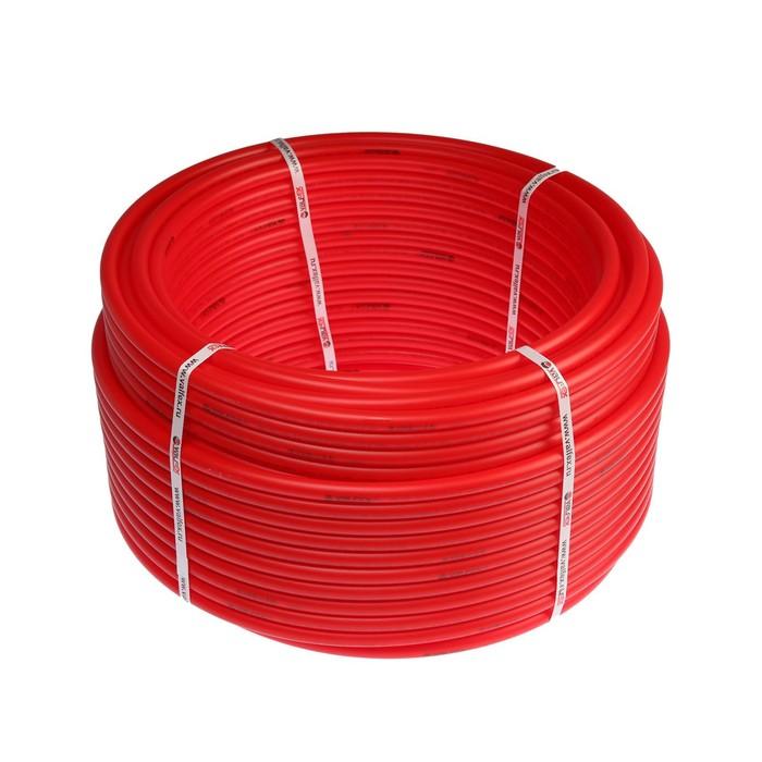 Труба из сшитого полиэтилена VALFEX, d=16х2 мм, бухта 160 м, для теплого пола, красная