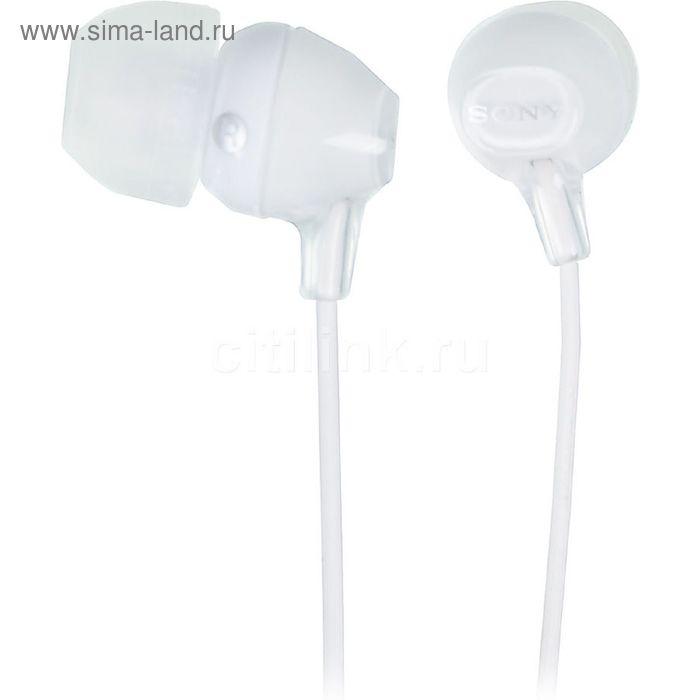 Наушники Sony MDREX15LPW.AE, вкладыши, провод 1.2 м, белые
