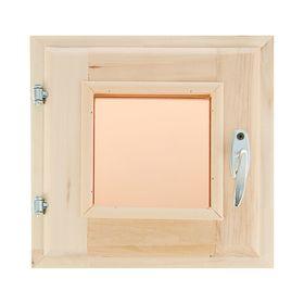 Окно, 30×30см, двойное стекло, тонированное, из липы Ош