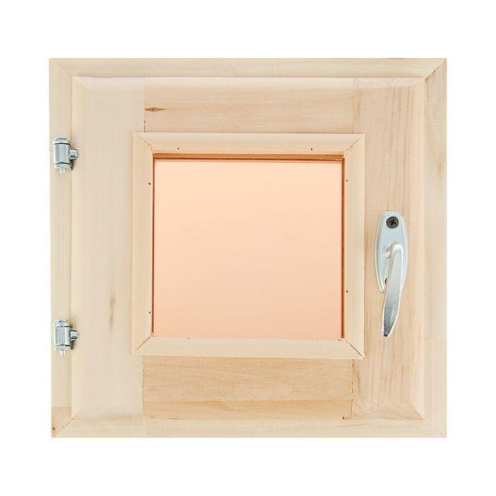 Окно, 30×30см, двойное стекло, тонированное, из липы