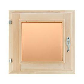 Окно, 40×40см, двойное стекло, тонированное, из липы Ош