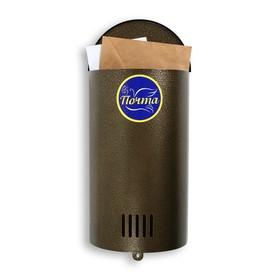Ящик почтовый без замка (с петлёй), вертикальный, «Полукруглый», бронзовый Ош