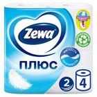 Туалетная бумага Zewa Плюс, 2 слоя, 4 рулона