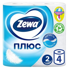 Туалетная бумага Zewa Плюс, 2 слоя, 4 шт.
