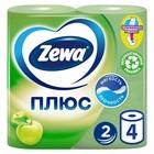 Туалетная бумага Zewa Плюс «Яблоко», 2 слоя, 4 рулона