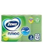 Туалетная бумага Zewa Плюс «Яблоко», 2 слоя, 12 шт.