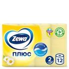 Туалетная бумага Zewa Плюс «Ромашка», 2 слоя, 12 шт.