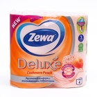 Туалетная бумага Zewa Deluxe Cashmere Peach, 3 слоя, 4 шт.