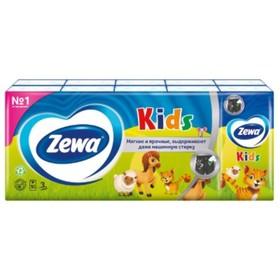 Платочки бумажные носовые Zewa Kids, 10 упаковок по 10 шт.