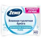Влажная туалетная бумага Zewa Pure, 42 шт.