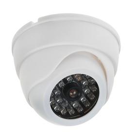 Муляж видеокамеры LuazON VM-4, со светодиодным индикатором, 2хАА (не в компл.), белый Ош