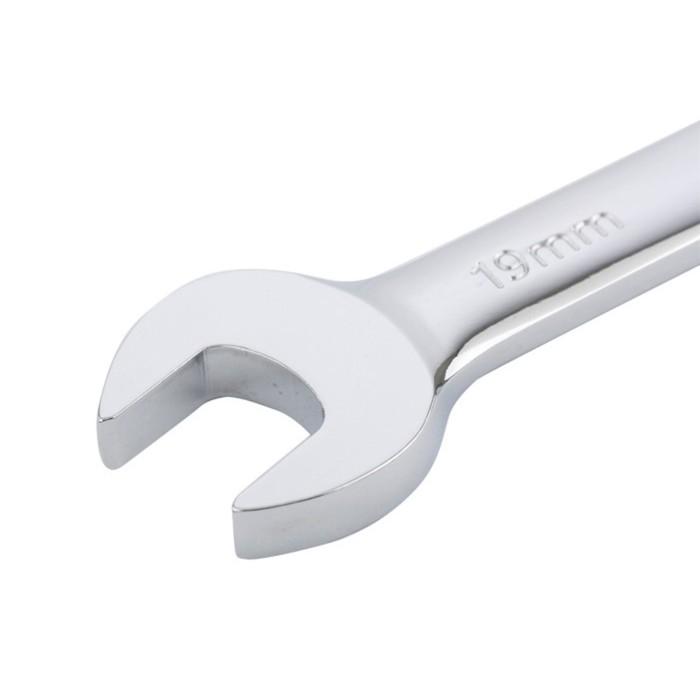 Набор ключей комбинированных GROSS, с трещоткой, 8 - 19 мм, 7шт, шарнирные