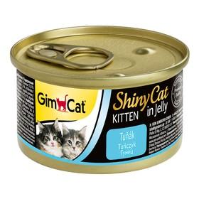 Влажный корм Gimpet Shiny Cat Kitten для кошек, с тунцом, 70 г