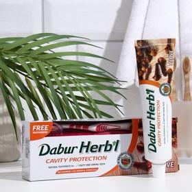Набор Dabur Herb'l гвоздика зубная паста, 150 г + зубная щётка