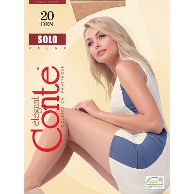 Колготки женские Conte Elegant Solo, 20 den, размер 2, цвет mocca