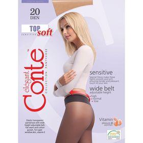Колготки женские Conte Elegant Top Soft, 20 den, размер 2, цвет mocca