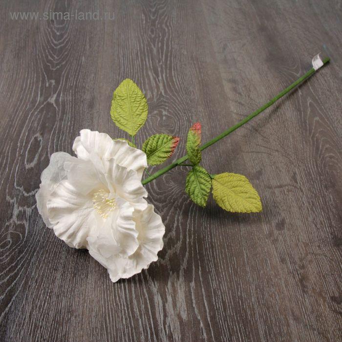 """Декоративный цветок """"Сказочная роза"""", белый"""