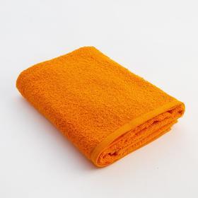 Полотенце махровое Экономь и Я 50х90 см, цв. оранжевый, 340 г/м²