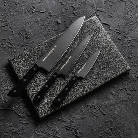 Набор ножей 3 шт Samura SHADOW с покрытием BLACK FUSO, лезвие 100, 120, 200 мм