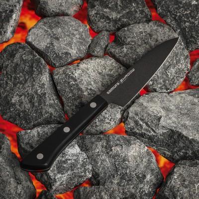 Нож кухонный для овощей Samura Shadow лезвие 9,9 см, с покрытием Black Fuso