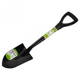 Лопата автомобильная, деревянный черенок, с ручкой