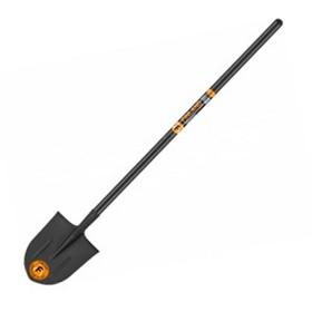 Лопата штыковая, острая, с удлинённым деревянным черенком, с рёбрами жёсткости, FINLAND