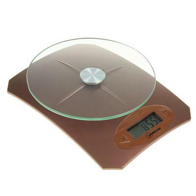 Весы кухонные HOMESTAR HS-3002, электронные, до 5 кг, коричневые - Фото 1