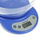 Весы кухонные HOMESTAR HS-3001, электронные, до 5 кг, автоотключение, голубые - Фото 2